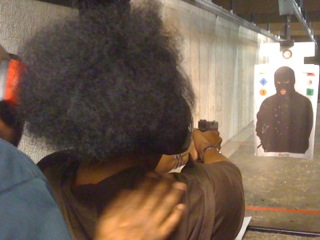 Instructor Leon Adams giving a Ladiess Only Firearms Class
